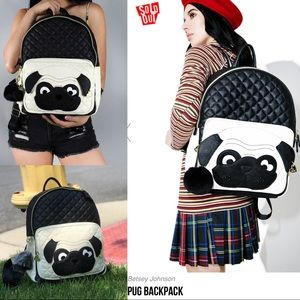 Just in🆕Betsey Johnson pug big festival backpack